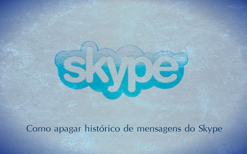 Apagar o histórico de mensagens do Skype