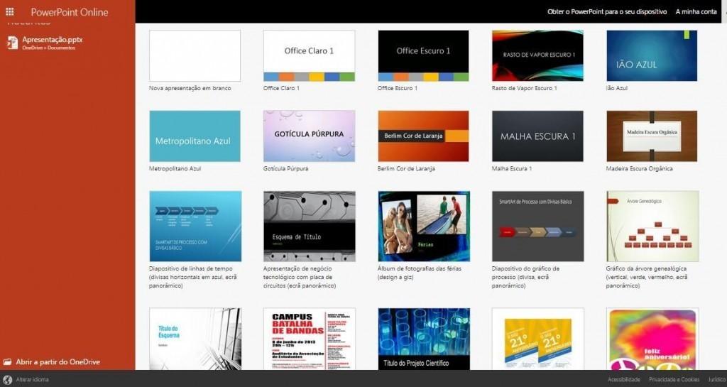 Baixar uma apresentação do PowerPoint Online