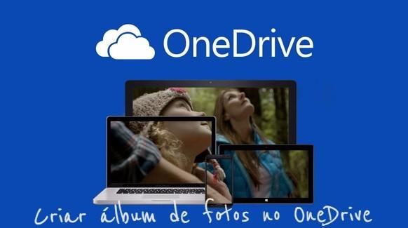 Criar álbum de fotos no OneDrive