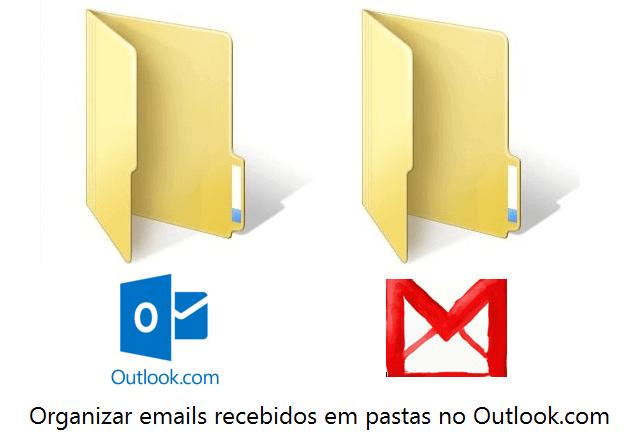 Organizar emails recebidos em pastas no Outlook.com