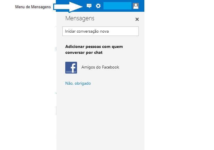 personalizar a sua conta de email no Outlook-menu mensagens