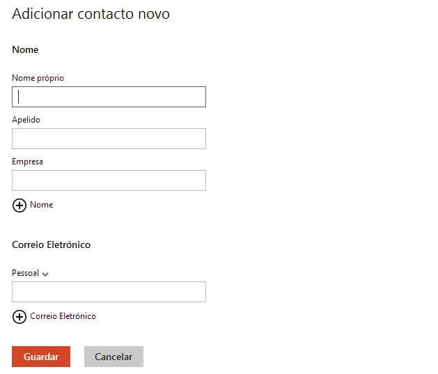 novo contacto_outlook